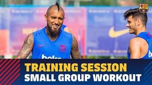 تمرینات آماده سازی بارسلونا در تعطیلات فیفا دی