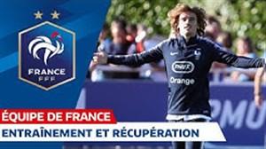 تمرینات بازیکنان تیم ملی فرانسه (12-06-98)
