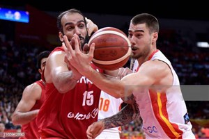 خلاصه بسکتبال اسپانیا 73 - 65 ایران(جام جهانی)