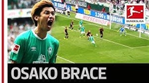 بازی عالی اوساکو در تیم وردربرمن