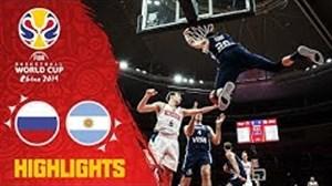 خلاصه بسکتبال روسیه 61 - آرژانتین 69 (جام جهانی بسکتبال)