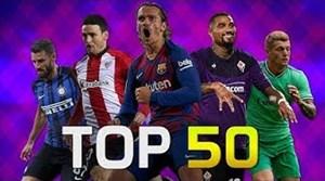 50 گل برتر فوتبال اروپا در ماه آگوست