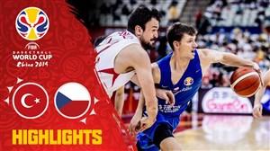 خلاصه بسکتبال ترکیه 76 - جمهوری چک 91 (جام جهانی)