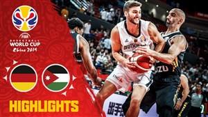 خلاصه بسکتبال آلمان 96 - اردن 62 (جام جهانی بسکتبال)