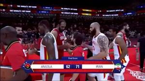 خلاصه بسکتبال آنگولا 62- 71 ایران (جام جهانی)