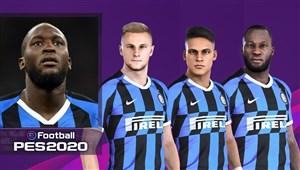 چهره و قدرت بازیکنان اینتر در بازی PES 2020