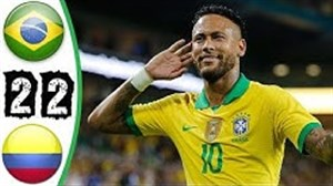 خلاصه بازی برزیل 2 - 2 کلمبیا(دوستانه)