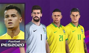 چهره و قدرت بازیکنان برزیل در بازی PES 2020