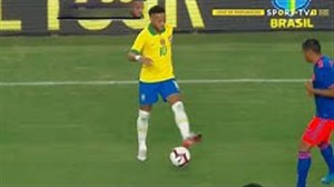 عملکرد نیمار در دیدار برزیل - کلمبیا