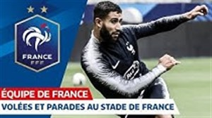 تمرین گلزنی بازیکنان تیم ملی فرانسه (16-06-98)