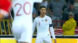گلزنی کریستیانو رونالدو در مقابل صربستان