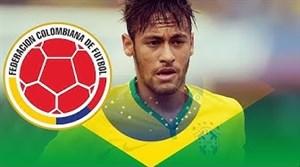 تمام 4 گل نیمار به تیم ملی کلمبیا