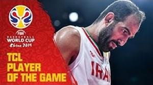 حامد حدادی بهترین بازیکن بازی ایران-فیلیپین