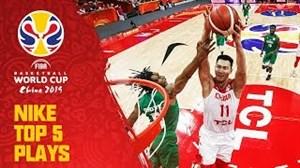 5 حرکت برتر روز نهم جام جهانی بسکتبال 2019