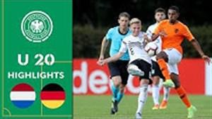 کامبک تیم زیر 20 سال آلمان مقابل هلند