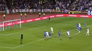 گل اول فنلاند به ایتالیا (پنالتی)
