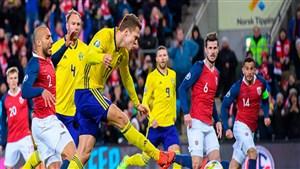 خلاصه بازی سوئد 1 - نروژ 1 (مقدماتی یورو)