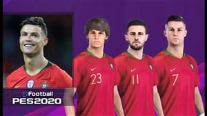 چهره و قدرت بازیکنان پرتغال در بازی PES 2020