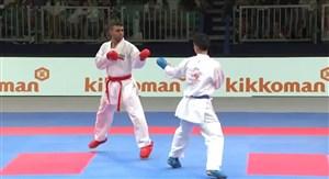 کسب مدال نقره مسابقات کاراته 2019 توسط ذبیح اله پورشیب