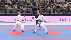کسب مدال برنز مسابقات کاراته 2019 توسط بهمن اصغری
