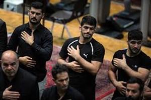 اعضای تیم ملی کشتی در سوگ قمر بنی هاشم (ع)
