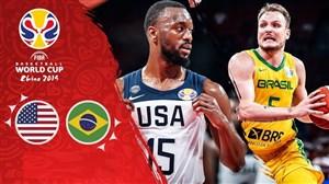 خلاصه بسکتبال آمریکا 89- برزیل 73