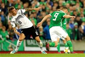 خلاصه بازی ایرلند شمالی 0 - آلمان 2