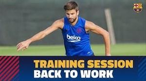 تمرینات آماده سازی بارسلونا برای تقابل با والنسیا