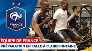 تمرینات ریکاوری بازیکنان فرانسه
