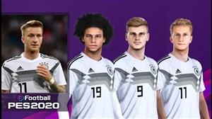 قدرت و استایل بازیکنان تیم ملی آلمان در بازی PES 2020
