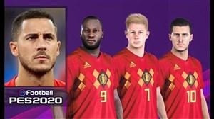 قدرت و استایل بازیکنان تیم ملی بلژیک در بازیPES 2020