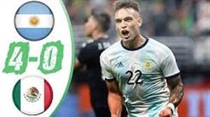 خلاصه بازی آرژانتین 4 - مکزیک 0