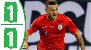 خلاصه بازی آمریکا 1 - اروگوئه 1