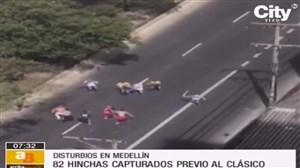 زد و خورد شدید به قصد کشت بعد از دربی مدلین در کلمبیا