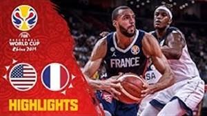 خلاصه بسکتبال فرانسه - آمریکا (جام جهانی)