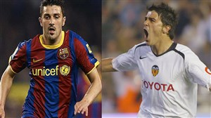 بازیکنان مشترک والنسیا و بارسلونا در ادوار مختلف