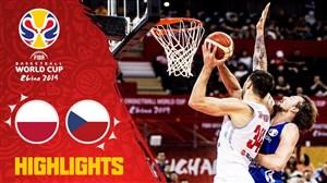 خلاصه بسکتبال لهستان - جمهوری چک (جام جهانی)