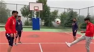 چالش جالب پرسپولیسی هابرای گلزنی در بسکتبال