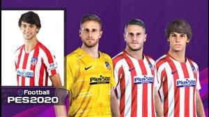 مشخصات بازیکنان اتلتیکو مادرید در PES 2020