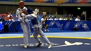 پیروزی هادی پور در وزن 58 کیلوگرم رقابتهای تکواندو