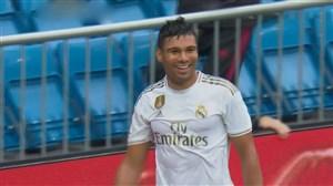 گل سوم رئال مادرید به لوانته توسط کاسمیرو