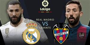 خلاصه بازی رئال مادرید 3 - لوانته 2 (دبل بنزما)