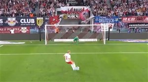 گل اول لایپزیش به بایرن (فورسبرگ - پنالتی)