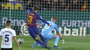 گل سوم بارسلونا به والنسیا؛ اشتباه سیلسن گلزنی پیکه