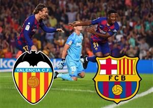 خلاصه بازی بارسلونا 5 - والنسیا 2 (دبل سوارز)