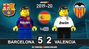 دیدار بارسلونا - والنسیا به روایت لگو
