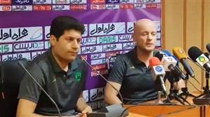 صحبتهای اوسنیک در غیاب اسکوچیج در نشست مطبوعاتی پیش از مسابقه پرسپولیس