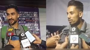 صحبت های هادی محمدی و فخرالدینی پس از بازی