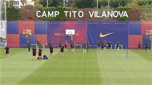 تمرین بازیکنان بارسلونا (25-06-98)