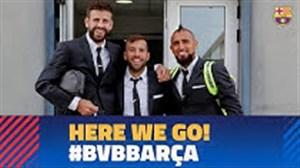 حواشی سفر تیم بارسلونا به دورتموند قبل از بازی